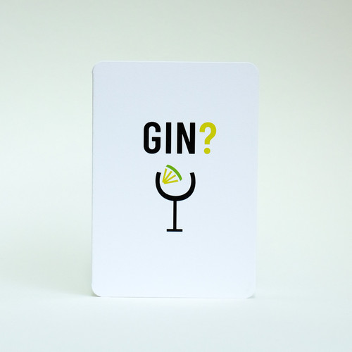 Gin & Tonic drink  invitation card by Jacky Al-Samarraie