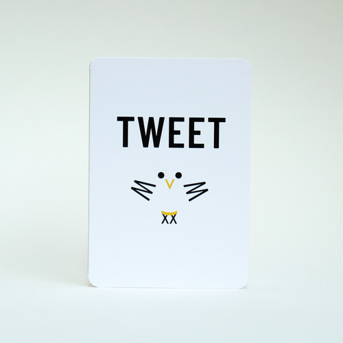 Tweet bird card design by Jacky Al-Samarraie