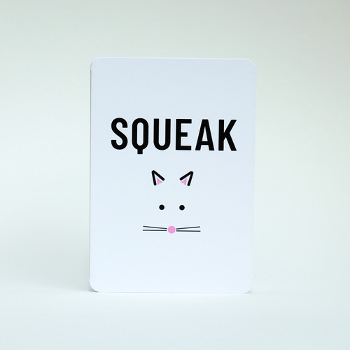 Squeak mouse card design by Jacky Al-Samarraie