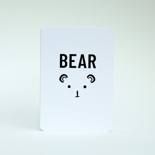 Bear greeting card by Jacky Al-Samarraie