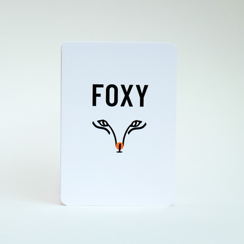 Foxy greeting card by Jacky Al-Samarraie