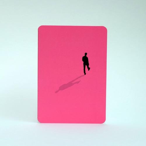 Silhouette greeting card of man walking by Jacky al-Samarraie