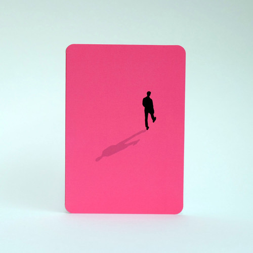 Silhouette greeting card of man walking by Jacky al-Samarraie
