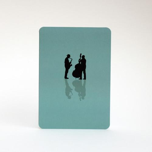Musicians greeting card by Jacky Al-Samarraie