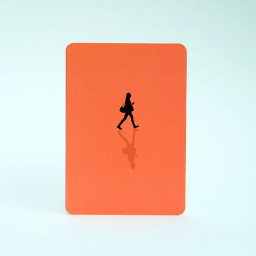 Woman silhouette greeting card by Jacky Al-Samarraie