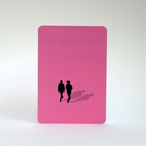 Friends silhouette greeting card by Jacky Al-Samarraie