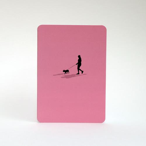 French Bulldog silhouette greeting card by Jacky Al-Samarraie