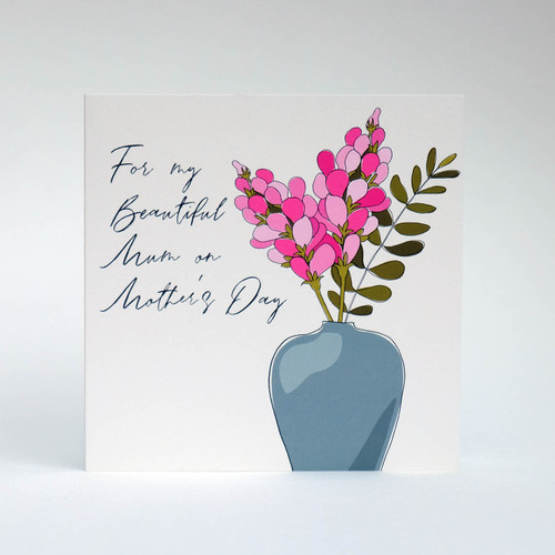 Floral Mother's Day greeting card by Jacky Al-Samarraie