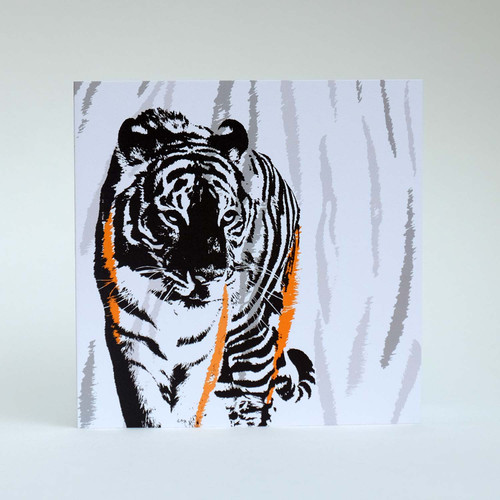 Tiger greeting card by Jacky Al-Samarraie