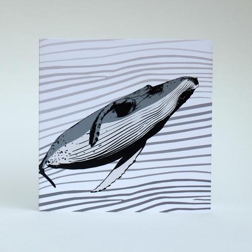 Humpback Whale greeting card by Jacky Al-Samarraie