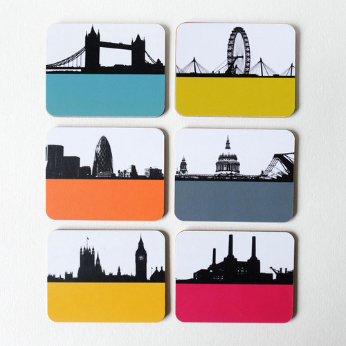 London Landmark Coaster set by Jacky Al-Samarraie