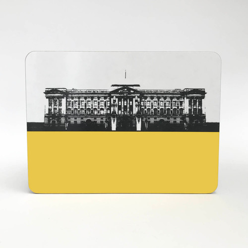 Buckingham Palace melamine table mat in yellow by Jacky Al-Samarraie