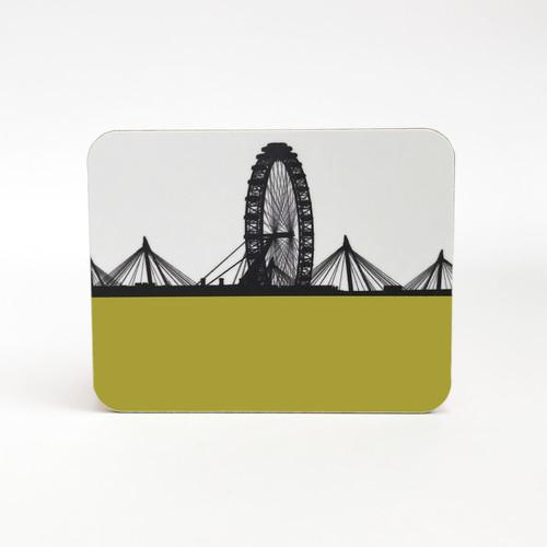 London Eye Cityscape drinks coaster by Jacky Al-Samarraie