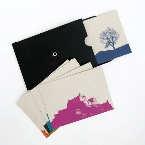Jacky Al-Samarraie Set of 12 Edinburgh Cityscape Postcards