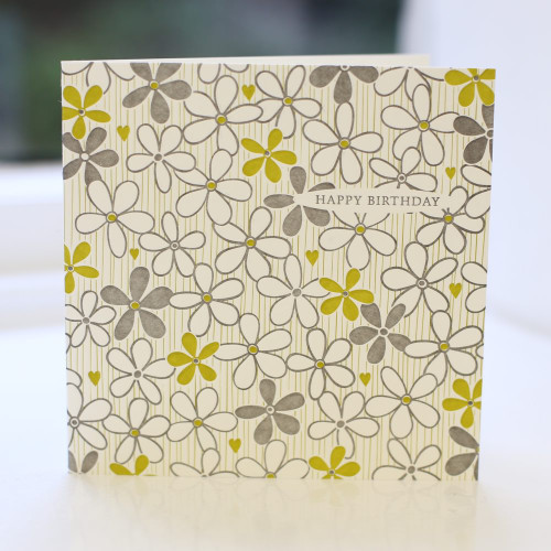 Jacky Al-Samarraie Flower Birthday Card - Letterpress