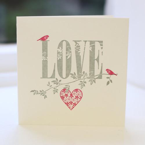 Jacky Al-Samarraie Love Greeting Card - Letterpress