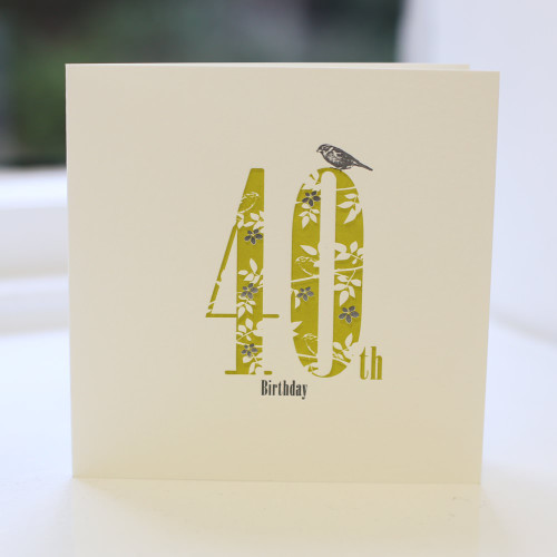 Jacky Al-Samarraie 40th Birthday Card - Letterpress