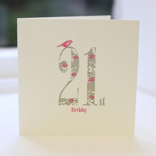 Jacky Al-Samarraie 21st Birthday Card - Letterpress