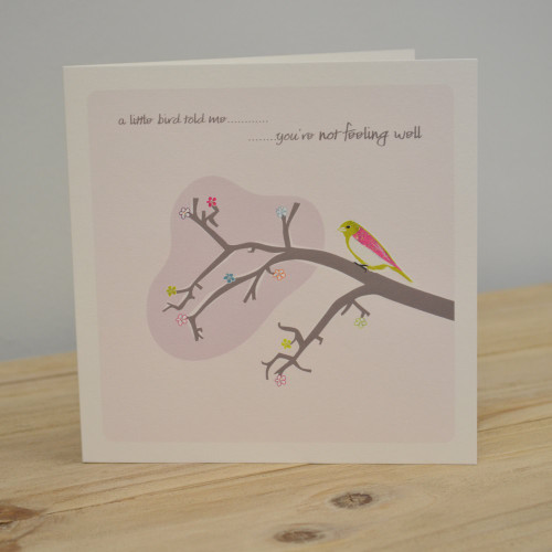 Jacky Al-Samarraie Little Bird Get Well Card