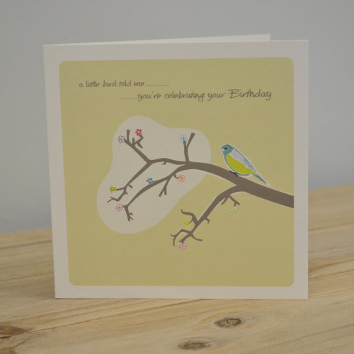 Jacky Al-Samarraie Little Bird Birthday Card