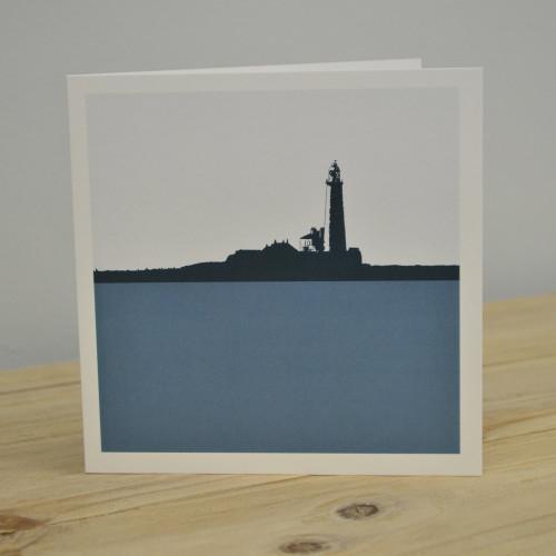 Jacky Al-Samarraie St Mary's Lighthouse - Whitley Bay Greeting Card