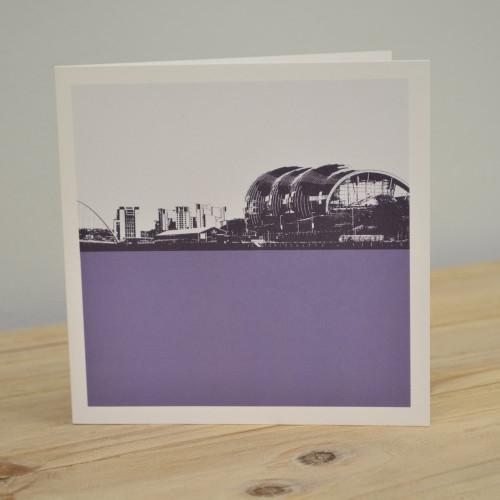 Jacky Al-Samarraie The Sage - Gateshead Purple Greeting Card
