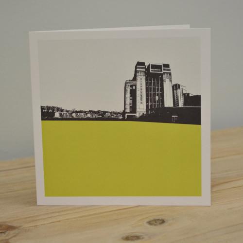 Jacky Al-Samarraie The Baltic - Gateshead Yellow Greeting Card
