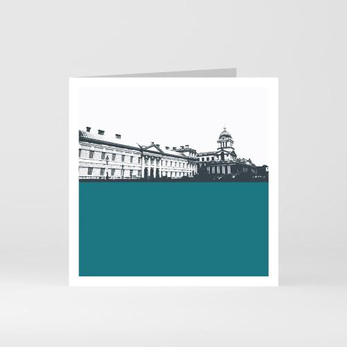 Jacky Al-Samarraie London Greeting Card of the Royal Naval College in Greenwich