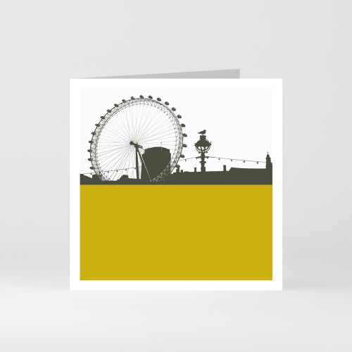 Jacky Al-Samarraie London Greeting Card of the London Eye