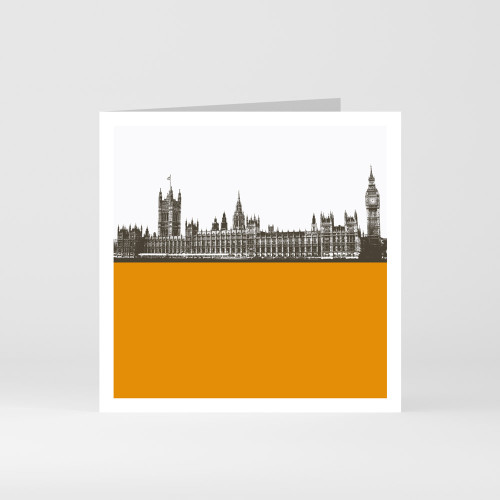 Jacky Al-Samarraie London Greeting Card of the Houses of Parliament