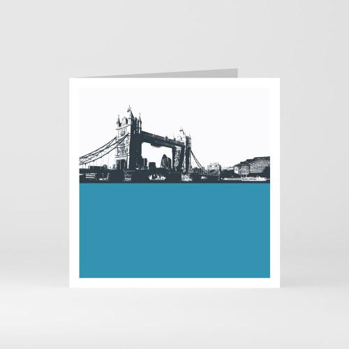 Jacky Al-Samarraie London Greeting Card of Tower Bridge