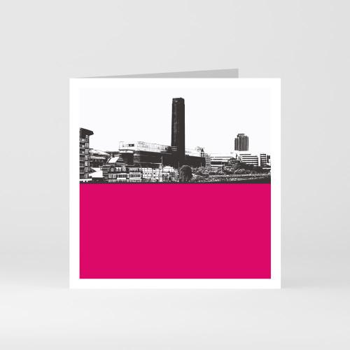 Jacky Al-Samarraie London Greeting Card of Tate Modern and The Globe Theatre