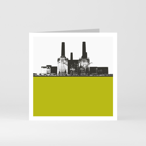 Jacky Al-Samarraie London Greeting Card of Battersea Power Station