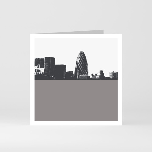 Jacky Al-Samarraie London Greeting Card of The Gherkin