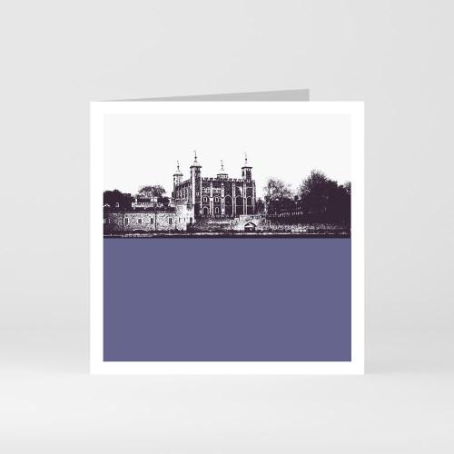 Jacky Al-Samarraie London Greeting Card of the Tower of London
