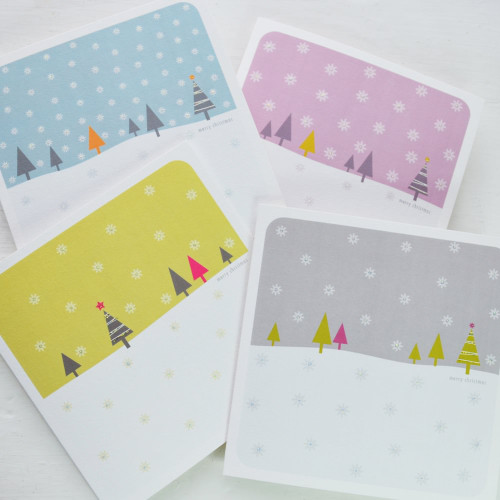 Jacky Al-Samarraie Snowfall Christmas Cards - Pack of 4