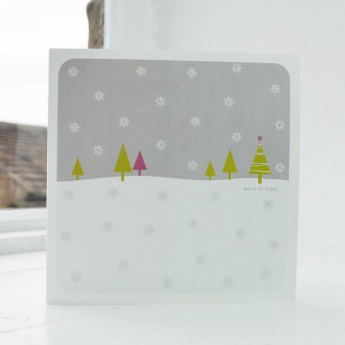 Jacky Al-Samarraie Snowfall - Grey Christmas Card