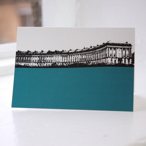 Jacky Al-Samarraie Royal Crescent - Bath Greeting Card