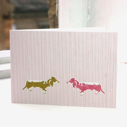 Jacky Al-Samarraie Oscar the Dog Greeting Card