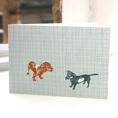 Jacky Al-Samarraie Two Alfies - Dog - Greeting Card