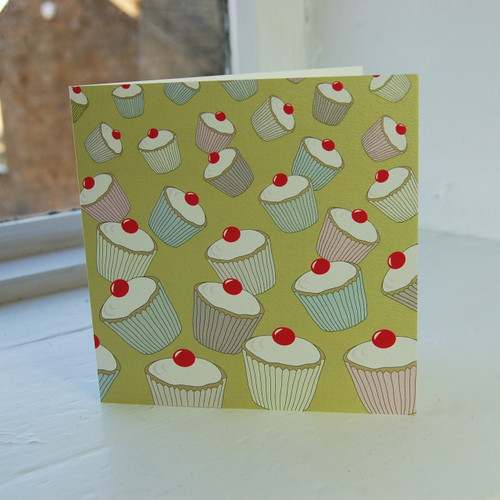 Jacky Al-Samarraie Lime Cupcakes Greeting Card