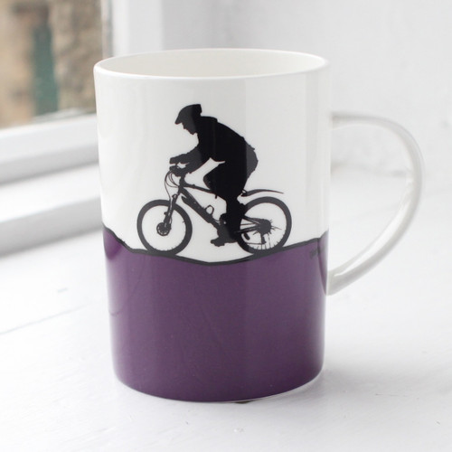 Jacky Al-Samarraie Mountain Biking Bone China Mug