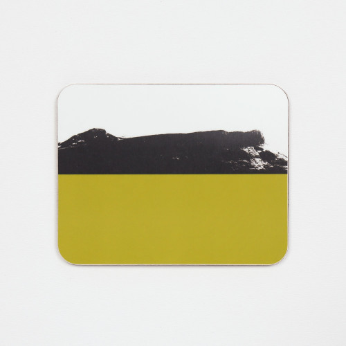 Designer melamine drinks coaster of Arthur's Seat in Edinburgh by Jacky Al-Samarraie.