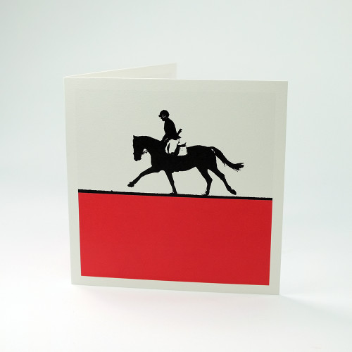 Show Jumping greeting card by Jacky Al-Samarraie