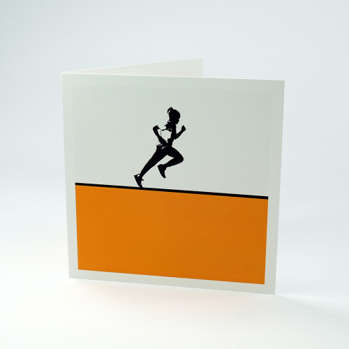Sprinting greeting card by Jacky Al-Samarraie