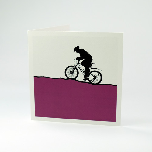 Mountain Bike greeting card by Jacky Al-Samarraie