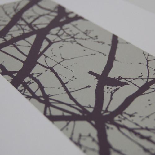 Jacky Al-Samarraie Purple Blackbirds Screen Print