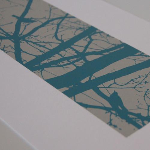 Jacky Al-Samarraie Turquoise Blackbirds Screen Print