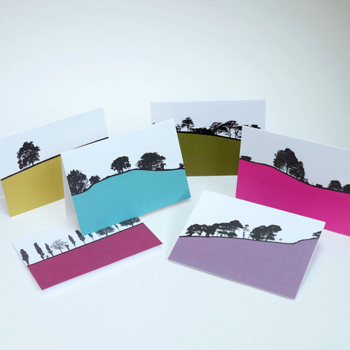 Rural British Landscape Greeting card Pack Two by Jacky Al-Samarraie