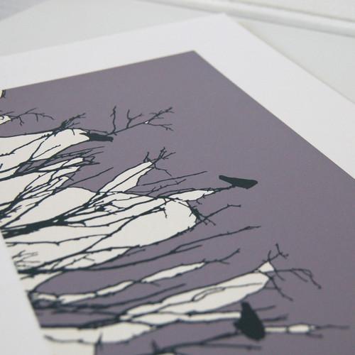 Jacky Al-Samarraie Grey/Lilac Watching Screen Print